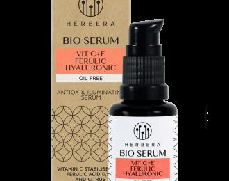 Bio Sèrum Vitamin C+E+Ferulic+Hialurònic Oil Free, Herbera